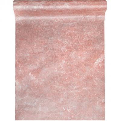 Chemin de table fanon rose gold métallisé 30cm x 5m (x1) REF/3431