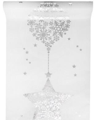 Chemin de table flocon blanc (x1) REF/4481