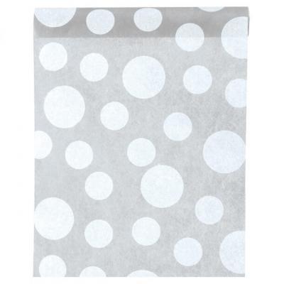 Chemin de table gris avec pois (x1) REF/3375