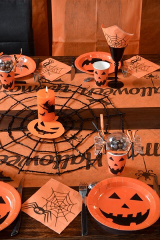 Chemin de table halloween 4