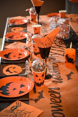 Chemin de table halloween 5