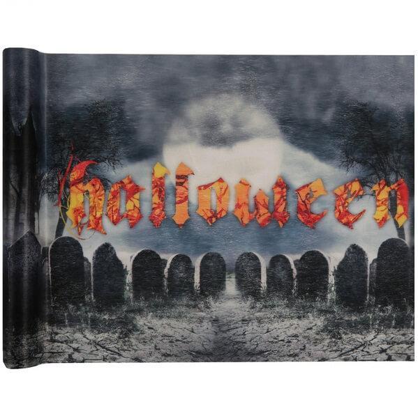 Chemin de table halloween cimetiere