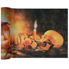 Chemin de table Halloween: Crâne et citrouille (x1) REF/5894