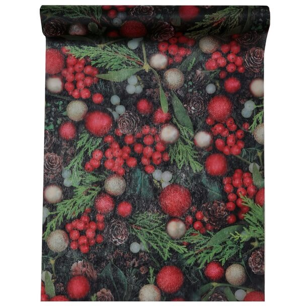 Chemin de table houx noel