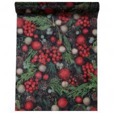 Chemin de table houx de Noël (x1) REF/5439