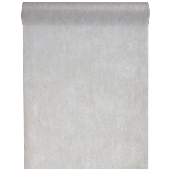 Chemin de table in tisse gris 10m