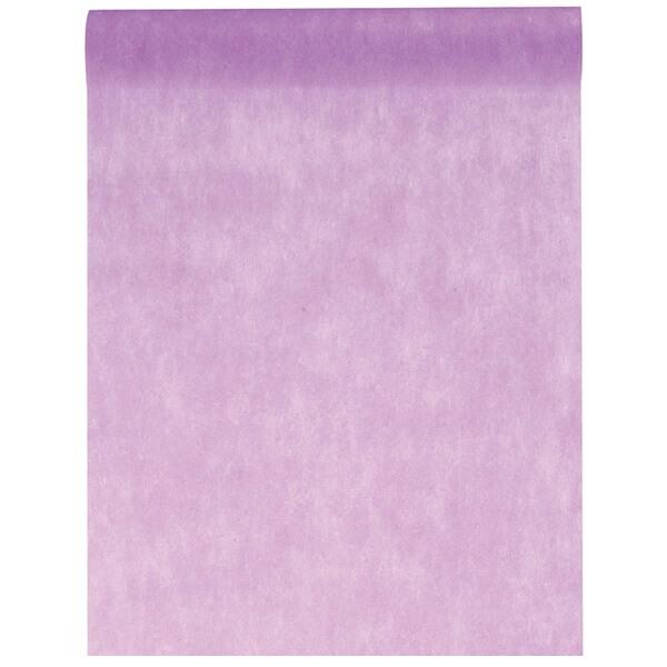 Chemin de table in tisse lilas 25m