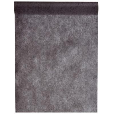 Chemin de table noir 30cm x 25m (x1) REF/5696