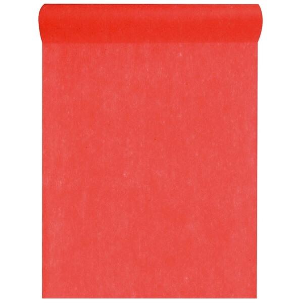 Chemin de table in tisse rouge 25m