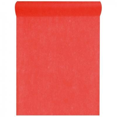 Chemin de table rouge 30cm x 25m (x1) REF/5696