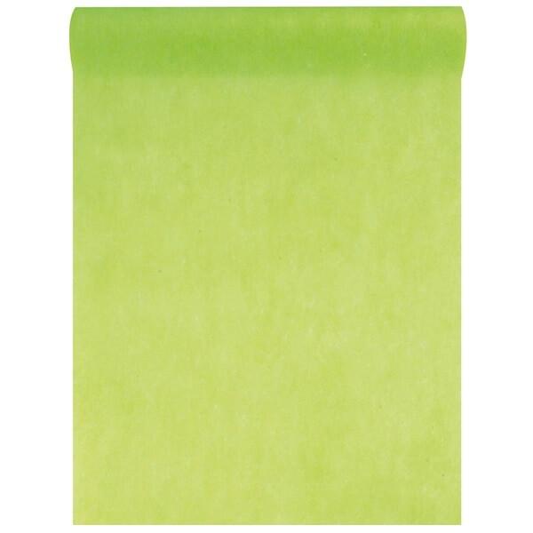 Chemin de table in tisse vert 10m