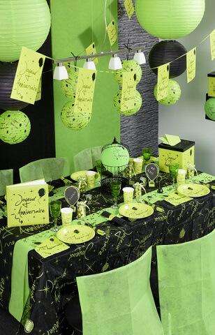 Chemin de table joyeux anniversaire 4