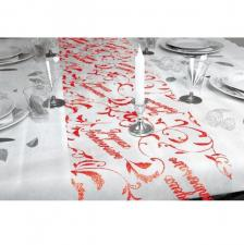 Chemin de table anniversaire rouge (x1) REF/CHT00R