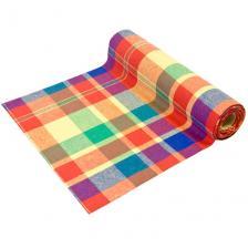 Chemin de table Madras multicolore 28cm x 4m (x1) REF/CH544