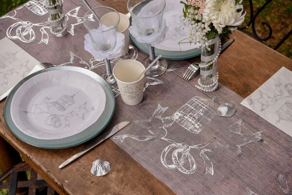 Chemin de table mariage alliances