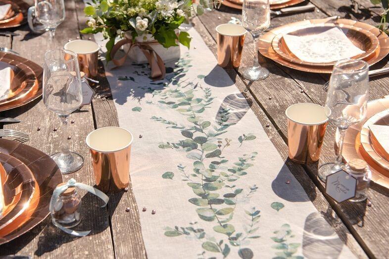 Chemin de table mariage champetre bucolique