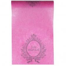 Chemin de table mariage just married fuchsia (x1) REF/3943