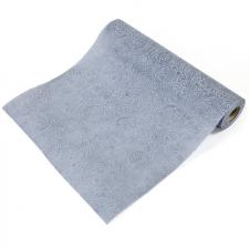 Chemin de table floral gris 29cm (x5m) REF/INT469