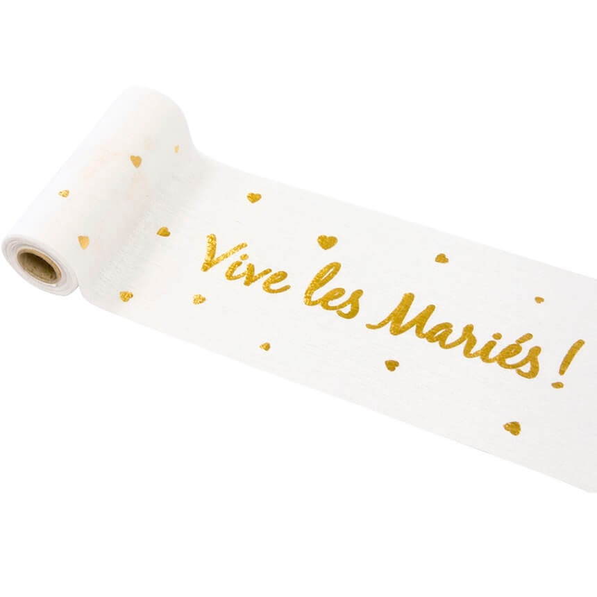 Chemin de table mariage vive les maries or