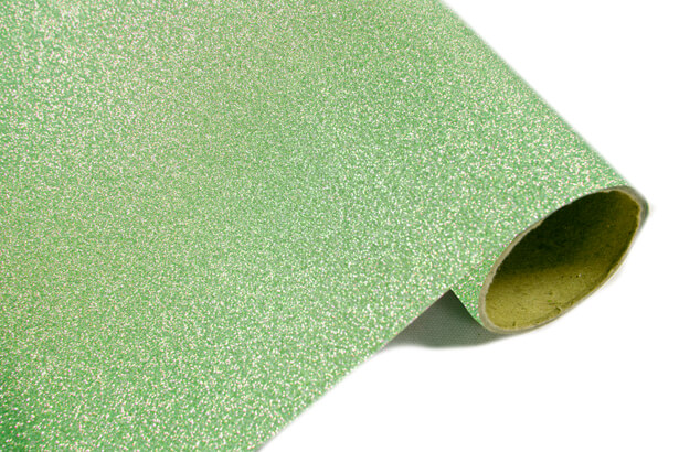 Chemin de table metal paillete vert menthe