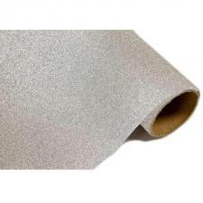 Chemin de table métal pailleté argent (x1) REF/CH500