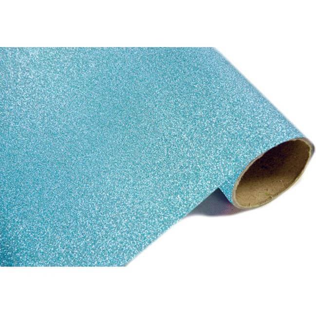 chemin de table m tal paillet bleu turquoise x1 ref ch500
