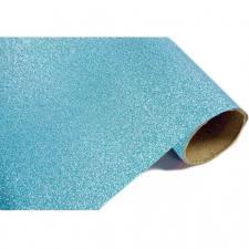 Chemin de table métal pailleté bleu turquoise (x1) REF/CH500