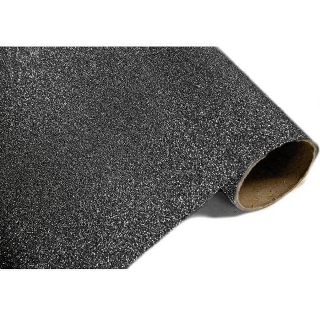 Chemin de table metallique paillete noir