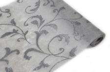 Chemin de table métallisé gris (x1) REF/INT467