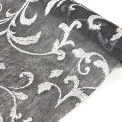 Chemin de table métallisé noir (x1) REF/INT467