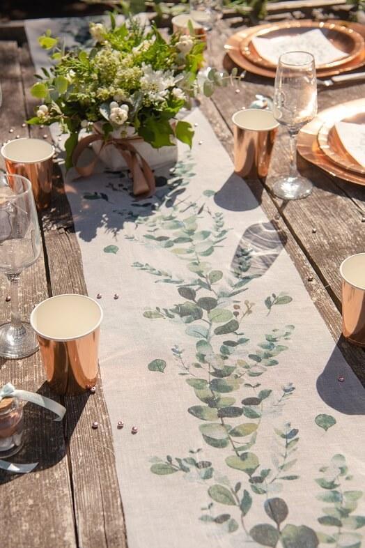 Chemin de table naturel champetre bucolique