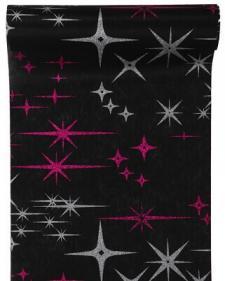 Chemin de table galaxy noir (x1) REF/4065