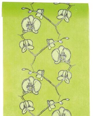 Chemin de table orchidee vert