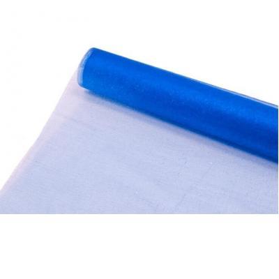 Chemin de table organdi brillant bleu royal 28cm x 5m (x1) REF/ORG050