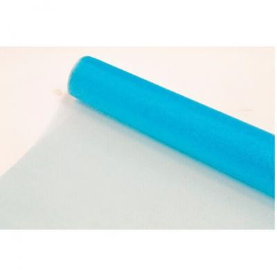 Chemin de table bleu turquoise organza brillant (x1) REF/ORG050