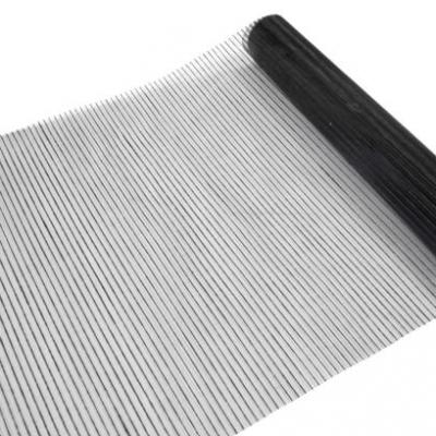 Chemin de table organza strié noir (x1) REF/ORG407
