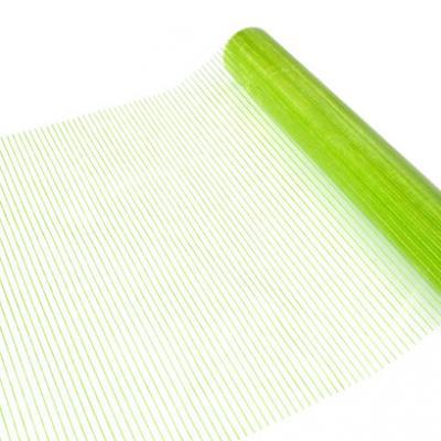 Chemin de table organza strié vert menthe (x1) REF/ORG407