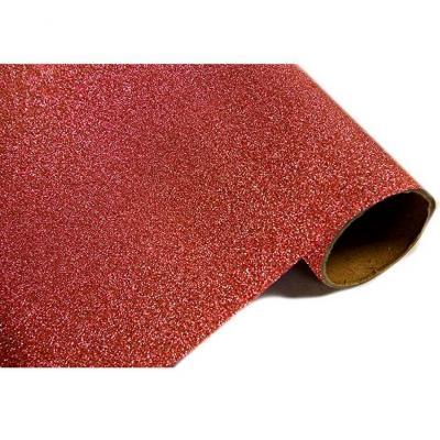 Chemin de table métal pailleté rouge 28cm x 5m (x1) REF/CH500