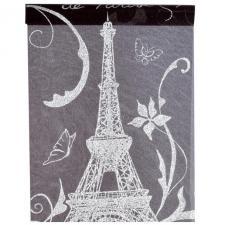 Chemin de table Paris noir et argent (x1) REF/3406