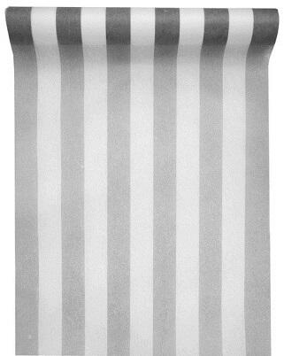 Chemin de table rayure gris