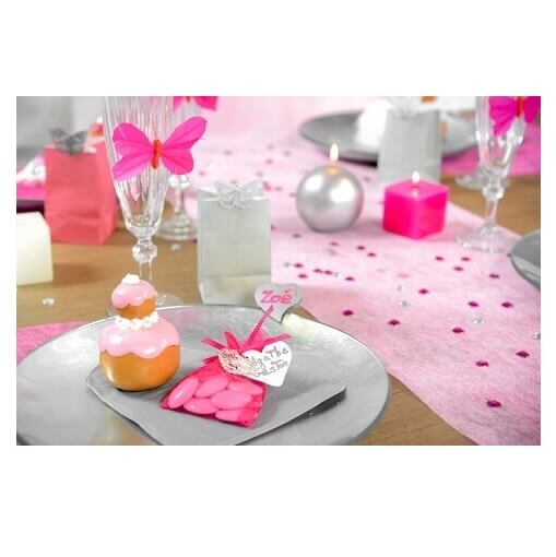Chemin de table rose 4