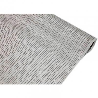 Chemin de table satin pailleté blanc et argent (x1) REF/CH502