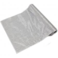 Chemin de table satin pailleté gris et argent (x1) REF/CH502
