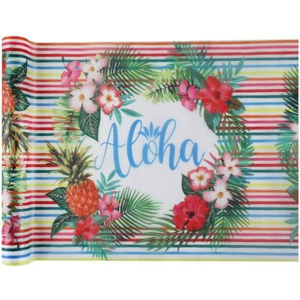 Chemin de table theme ile aloha
