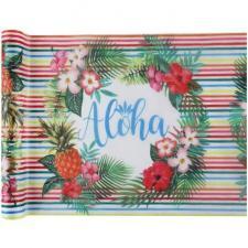 Chemin de table Aloha sur les îles 30cm x 5m (x1) REF/6856