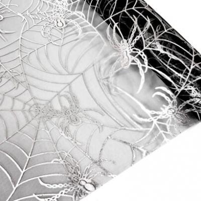 Chemin de table toile d'araignée: Noir et argent (x1) REF/ORG614