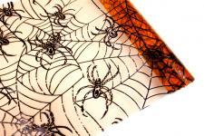 Chemin de table toile d'araignée: Orange et noir (x1) REF/ORG614