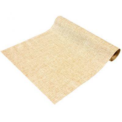 Chemin de table toile Lurex naturel 28cm x 4m (x1) REF/CH541