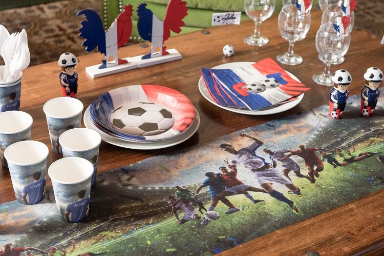 Chemin de table tricolore foot