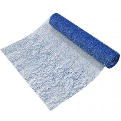 Chemin de table en tulle bleu marine métallisé sequins 28cm x 5m (x1) REF/TUN215